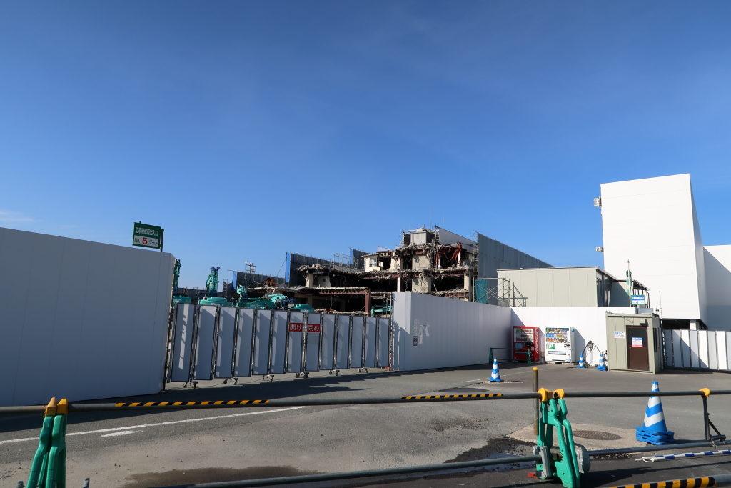 工事中の福岡空港
